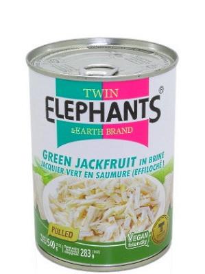 PULLED Green Jackfruit in Brine - TWIN ELEPHANTS