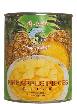 Pineapple Pieces in Light Syrup 850g – MOUNT ELEPHANT
