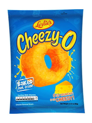 CHEEZY-O Baked Cheese-flavoured Snack - LESLIE'S