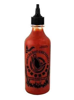 Sriracha BLACKOUT Hot Chilli Sauce – EXTREMELY HOT 455ml – FLYING GOOSE