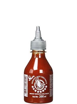 Sriracha Hot Chilli Sauce – SMOKEY Flavour 200ml – FLYING GOOSE