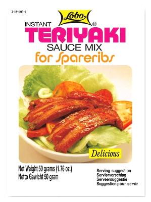 Instant Teriyaki Sauce Mix for Spareribs - LOBO