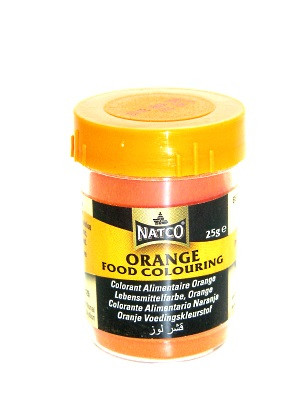 ORANGE Food Colouring Powder 25g – NATCO
