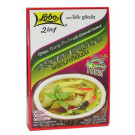 2 in 1 Green Curry Paste with Creamed Coconut - LOBO