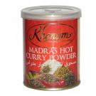 Madras Hot Curry Powder 100g (tin) - KHANUM