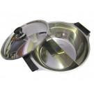 Stainless Steel Fondue Pot (2 section) 28cm