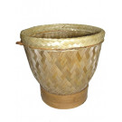 """Large (10""""x9"""") Sticky Rice Steaming Basket (use in or over boiling pan)"""