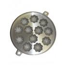 Aluminium Khanom Khai Tray (235mm diameter) - Round Shape