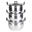 3-piece (16, 18 & 20cm) Aluminium Thai Rice Pan Set - CROCODILE