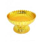 Ceremonial Plastic Bowl (Khantoke) - Gold - 14cm diameter