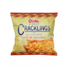 RIBBED CRACKLINGS Salt & Vinegar Flavour Wheat Snack - OISHI