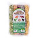 Assorted Vegetable (Carrot, Beetroot, Spinach, Pumpkin, Black Sesame) Noodles 500g - LONGDAN